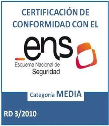 Certificado de conformidad con el Esquema Nacional de Seguridad