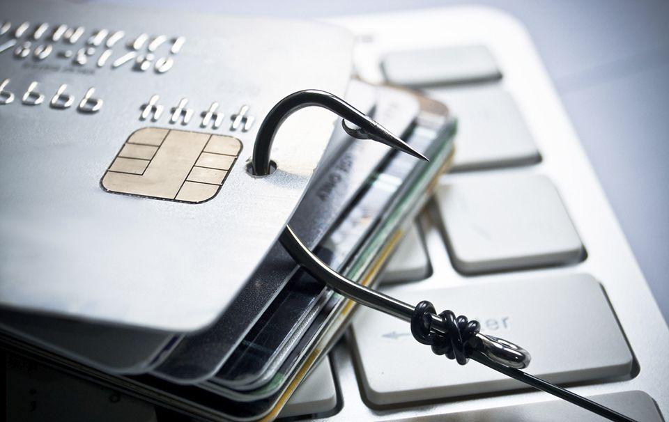 Phishing de una tarjeta de crédito