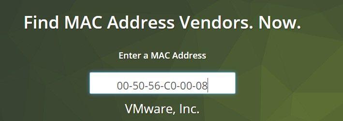Buscador de MACs en Internet
