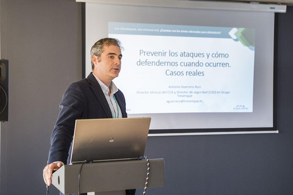 Antonjo Guerrero, hablando sobre seguridad, en una imagen de archivo.
