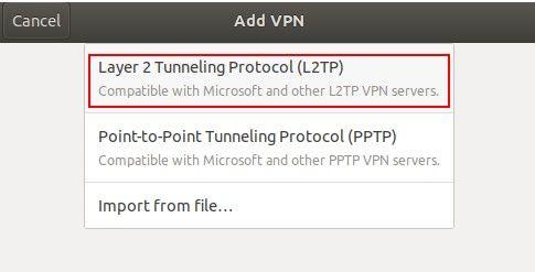 L2TP/IPSEC en Linux - Ubuntu