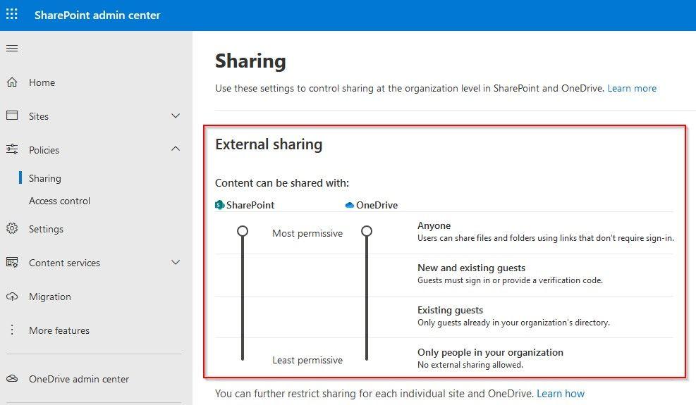 Compartición de archivos en Office 365
