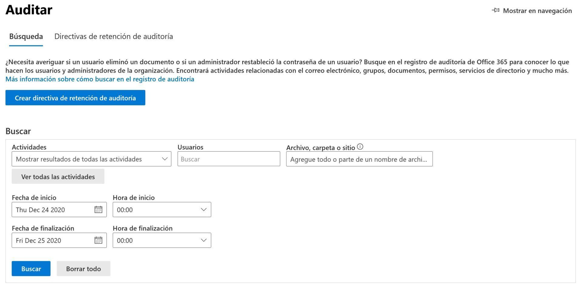 Características del Centro de seguridad y cumplimiento de Microsoft 365