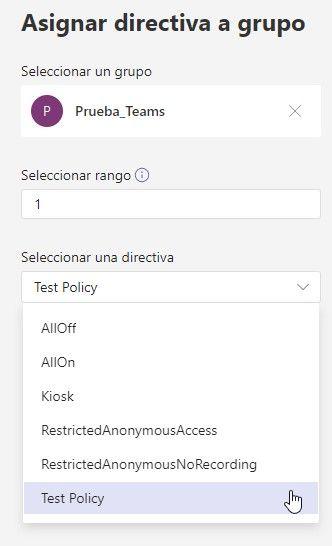 Gestionar directivas de reunión en Microsoft Teams